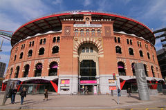 Las Arenas Shopping Mall - Barcelona, Spain. Las Arenas shopping center in Barcelona, Spain, is a former bull fighting ring. The arena was built between 1889 and Stock Images