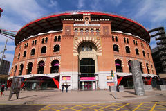 Las Arenas Shopping Mall - Barcelona, Spain. Las Arenas shopping center in Barcelona, Spain, is a former bull fighting ring. The arena was built between 1889 and Royalty Free Stock Photos