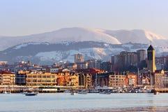 Las Arenas waterfront in Getxo Stock Photos