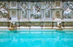 Las arquitecturas y el arte de Siena foto de archivo libre de regalías
