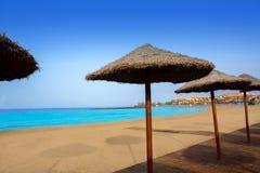 Las-Aussichten setzen Arona in der Costa Adeje Teneriffa auf den Strand Lizenzfreie Stockbilder