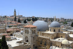 Las azoteas de Jerusalén Fotos de archivo libres de regalías