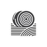 Las balas del icono del heno vector, muestra plana llenada, pictograma sólido aislado en blanco Símbolo, ejemplo del logotipo stock de ilustración