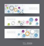Las banderas abstractas fijaron con la imagen del concepto de la innovación de la ciencia libre illustration