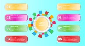 Las banderas coloridas del número del diseño circundan la plantilla stock de ilustración