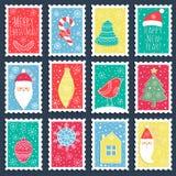 Las banderas de la Navidad Foto de archivo libre de regalías