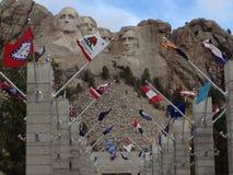 Las banderas de Rushmore Imagen de archivo