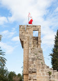 Las banderas de Turquía y la República turca de Chipre septentrional Imagenes de archivo