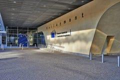 Las banderas del anf del edificio de Berlaymont Fotografía de archivo