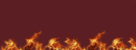 Las banderas del fuego de la llama listas para el trabajo, textura del fondo para a?aden el texto o el dise?o gr?fico ilustración del vector
