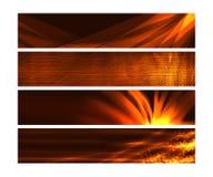 Las banderas del Web con el fuego tienen gusto de efectos y de texturas Fotos de archivo
