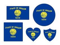 Las banderas fijaron del estado de los E.E.U.U. de Oregon ilustración del vector