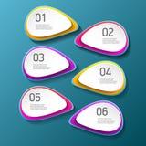 Las banderas modernas del papel del progreso del color del vector fijadas con tres opciones o pasos se pueden utilizar para el in ilustración del vector