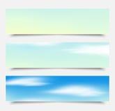 Las banderas, nubes azules de los jefes fijan, vector libre illustration