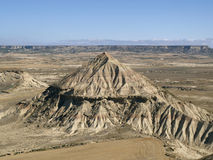 Las bardenas reales. View of Las Bardenas Reales in Navarra, Spain Royalty Free Stock Image