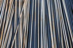 Las barras de acero de refuerzo Fotos de archivo