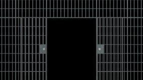 Las barras de la prisión se abren stock de ilustración