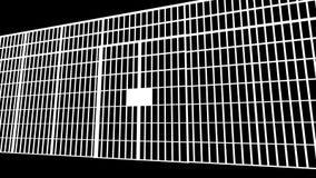 Las barras de la prisión se abren ilustración del vector