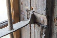 Las barras de metal en la ventana Imagen de archivo libre de regalías