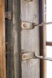 Las barras de metal en la ventana Foto de archivo