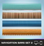 Las barras de navegación para el Web y el móvil fijaron 2 ilustración del vector