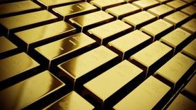 Las barras de oro brillantes en película miran la clasificación del color almacen de video