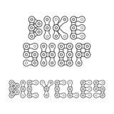 Las bicis hacen compras emblema, poniendo letras Elemento del diseño para la tienda de la bici o la bandera de la publicidad libre illustration