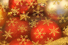 Las bolas de la Navidad se cierran para arriba Imagen de archivo