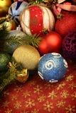 Las bolas de la Navidad se cierran para arriba Fotografía de archivo libre de regalías