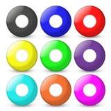 Las bolas del bingo fijadas vacian en cente Imagen de archivo