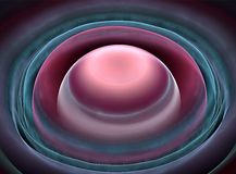 Las bolas púrpuras y mandan por circular el fondo fotos de archivo