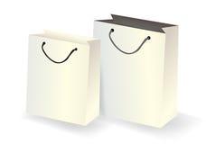 Las bolsas de papel vector aislado Fotografía de archivo libre de regalías