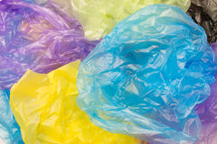 Las bolsas de plástico disponibles Imágenes de archivo libres de regalías