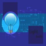 Las bombillas son azules Fotos de archivo