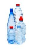 Las botellas de agua aislaron Fotografía de archivo
