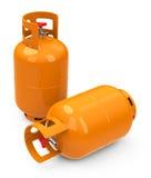 Las botellas de gas Imágenes de archivo libres de regalías