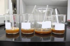 Las botellas experimentales. Foto de archivo