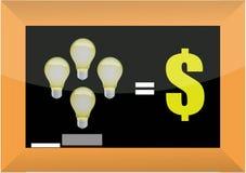 Las buenas ideas hacen la ilustración del concepto del dinero libre illustration