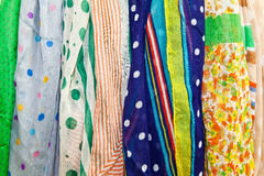 Las bufandas coloridas Foto de archivo libre de regalías