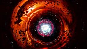 Las burbujas abstractas en agua tienen gusto en espacio contra el fondo de la turquesa, superficie líquida almacen de video