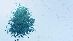 Las burbujas de la animación del icono del cryptocurrency del FOE salpican elementos morphing ilustración del vector