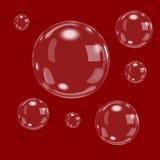 Las burbujas del agua blanca del bubbl del vector con la reflexión fijaron en el ejemplo transparente del vector del fondo Imagen de archivo