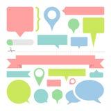 Las burbujas del diálogo del mensaje fijaron grande para cualquier uso, vector EPS10 Fotografía de archivo libre de regalías
