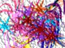 Las burbujas en colores pastel brillantes púrpuras rosadas violetas forman, las tonalidades, formas en fondo abstracto vivo Fotos de archivo