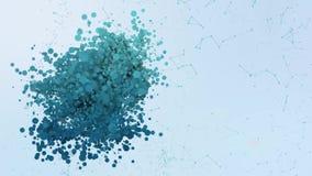Las burbujas estelares de la animación del icono del cryptocurrency de los lúmenes salpican elementos morphing ilustración del vector