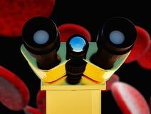 Las células de las bacterias se cierran para arriba Fotos de archivo libres de regalías