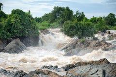 Las caídas del Mekong Fotografía de archivo libre de regalías