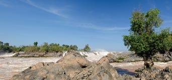 Las caídas del Mekong Fotos de archivo libres de regalías