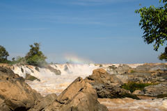 Las caídas del Mekong fotos de archivo