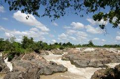 Las caídas del Mekong Fotografía de archivo